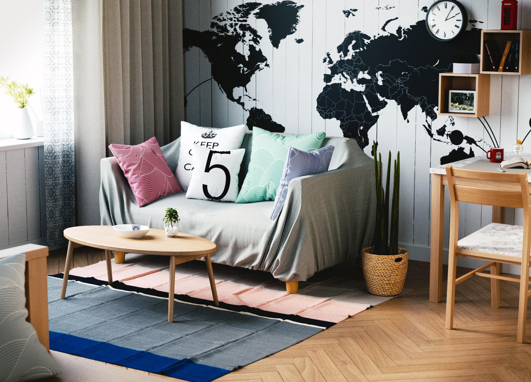 Living Room Blender3D, Blender3D Tuts