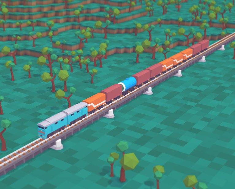 Мосты в Voxel Tycoon
