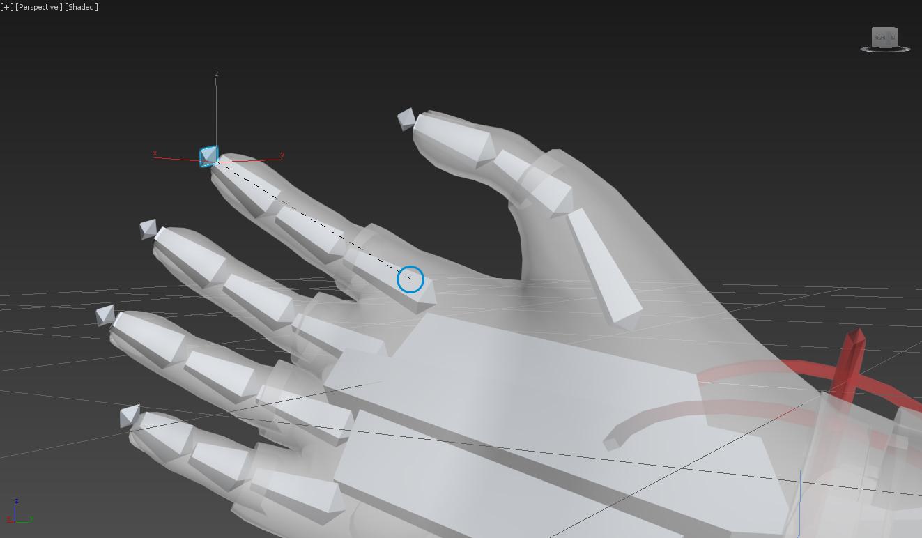 IK в 3ds Max, игровые руки для создания игры