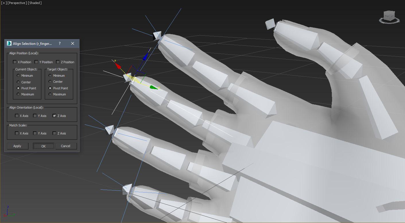 IK контроллеры 3ds Max - Анимация и риггинг