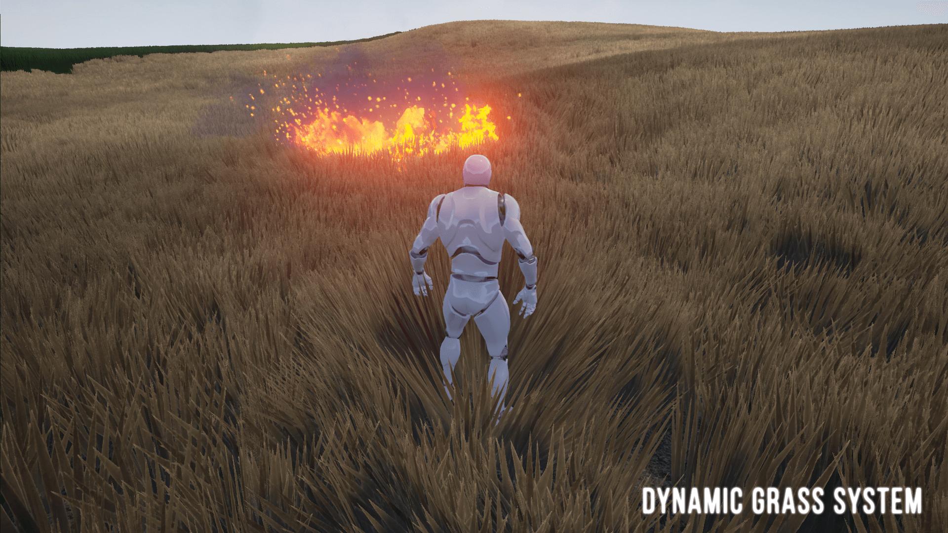 Dynamic Grass System - система динамической травы Unreal Marketplace