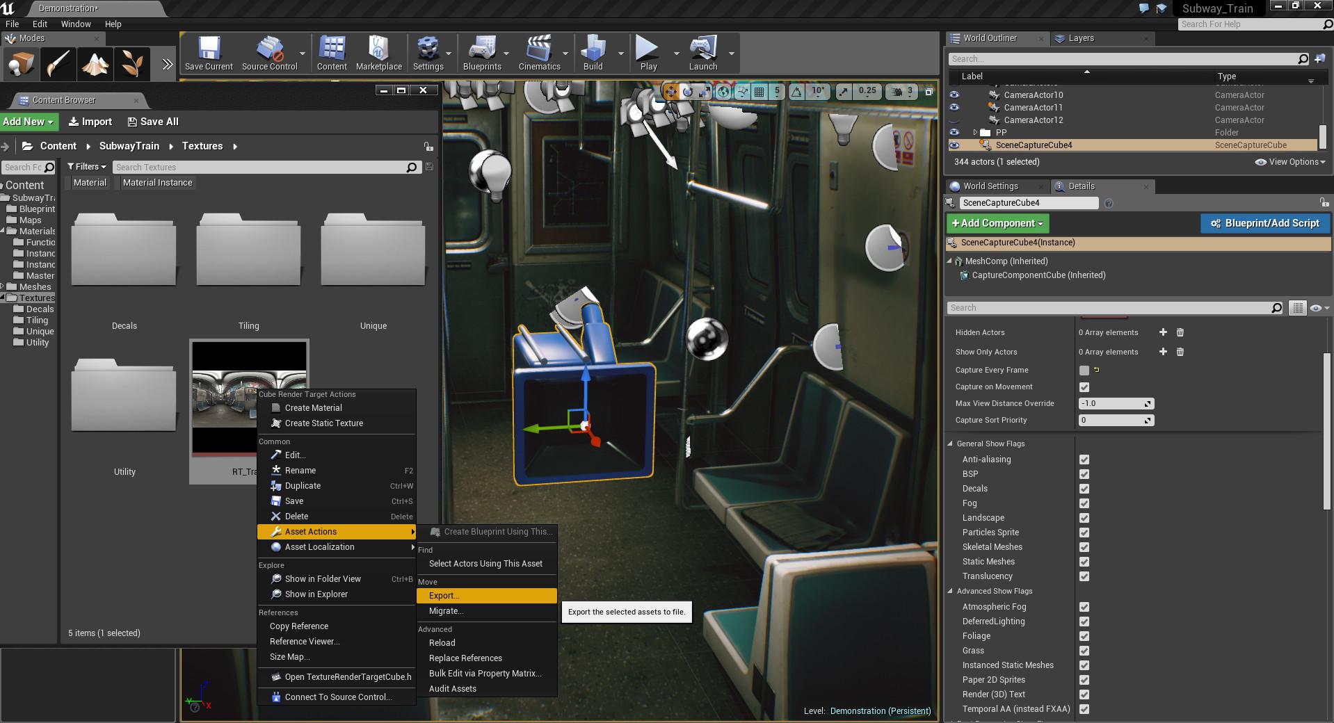 Unreal Engine 4 урок, создание панорамы для портфолио