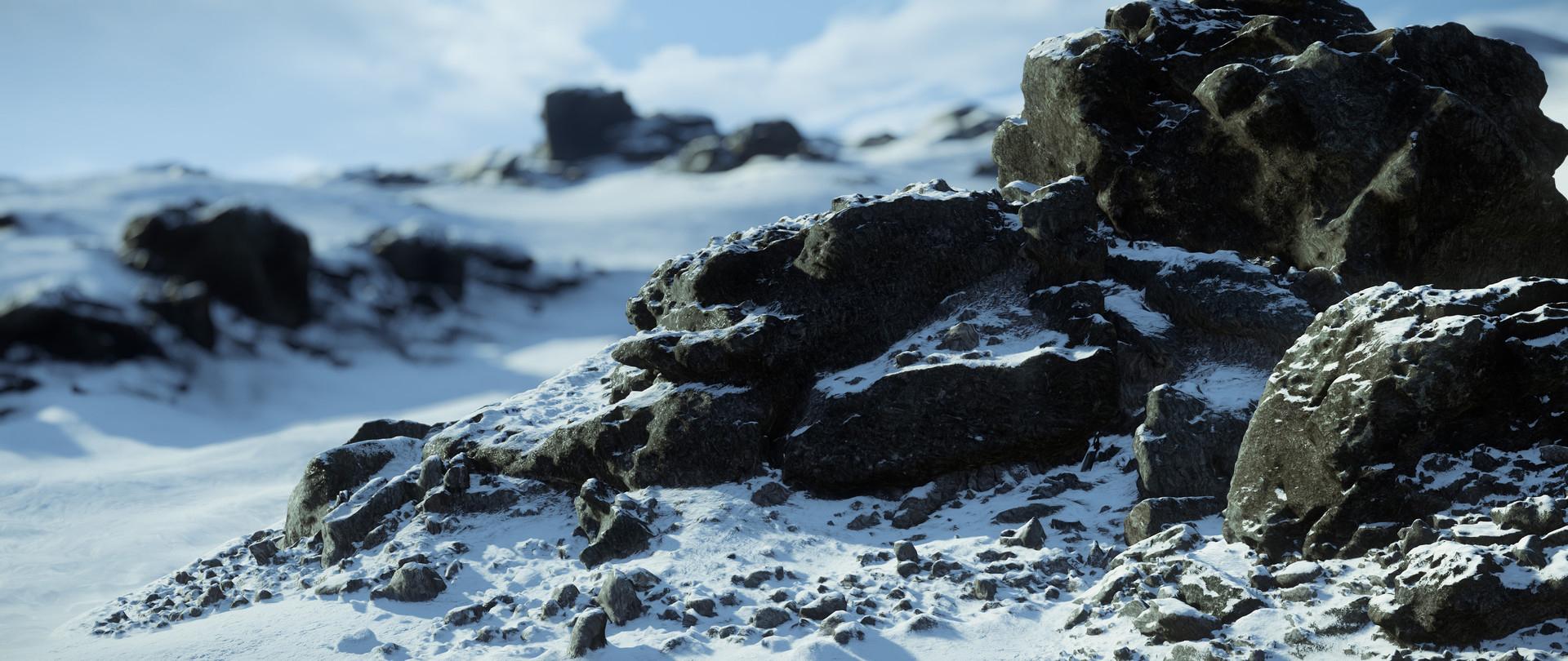 Cryengine render snow landscape