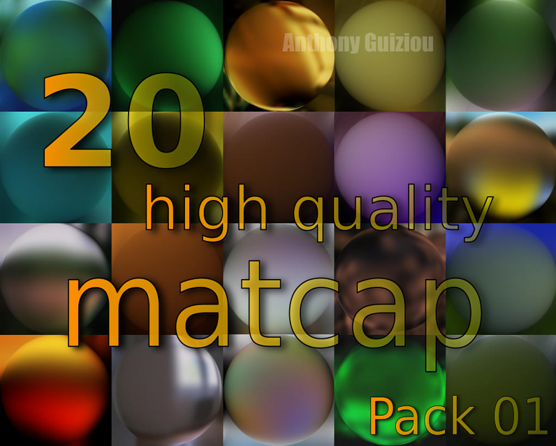Matcaps Pack blender 2.78