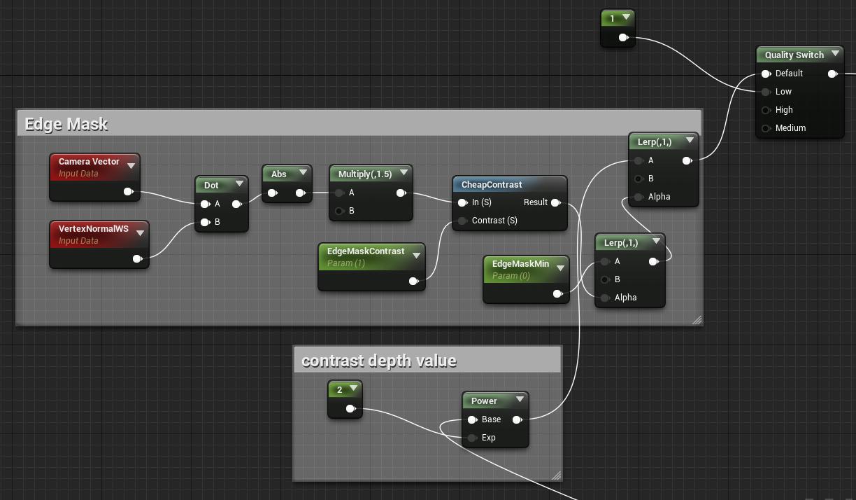 Настройка Edge Mask Unreal Engine 4