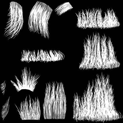 Текстура волос - Alpha
