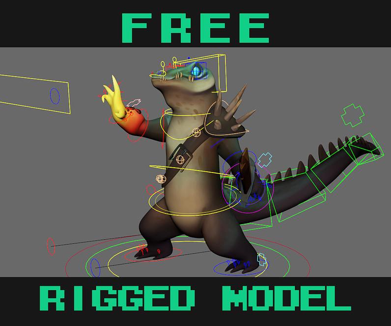 Бесплатная 3D модель для тренировки анимирования