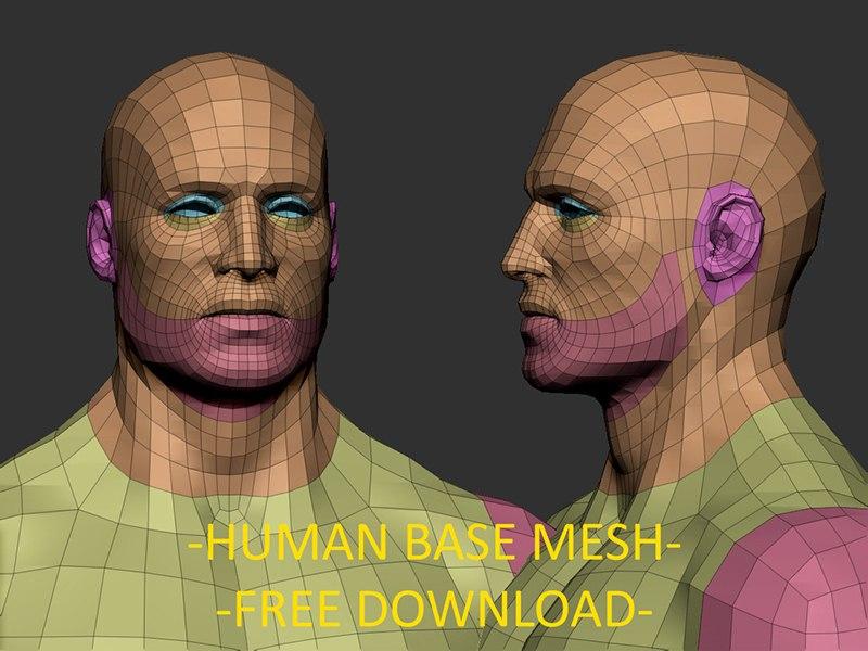 Бесплатная 3д модель персонажа
