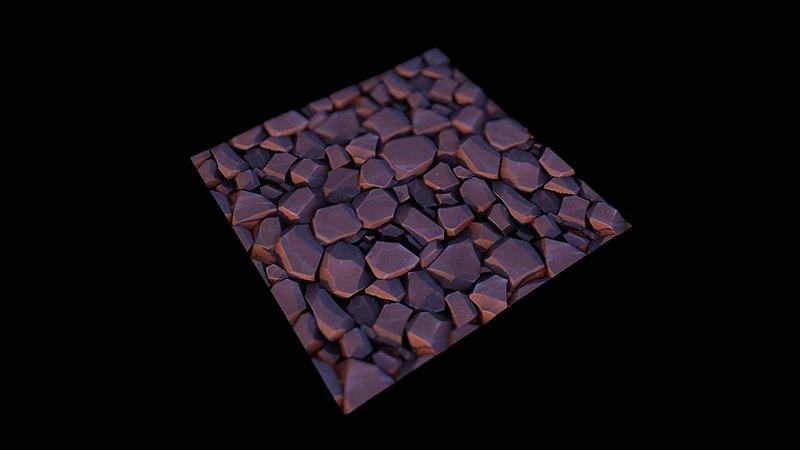 Стилизованный камень материал