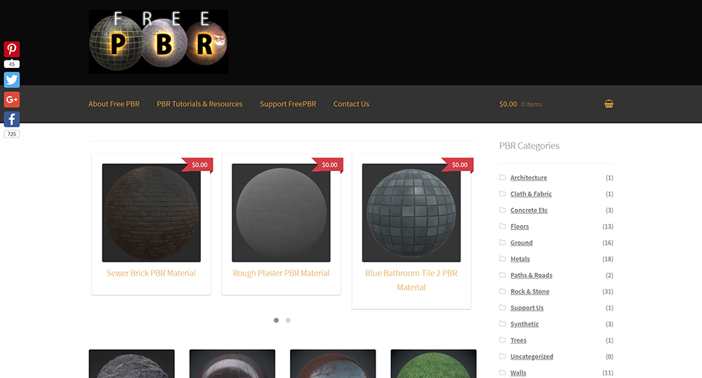FreePBR Texture library