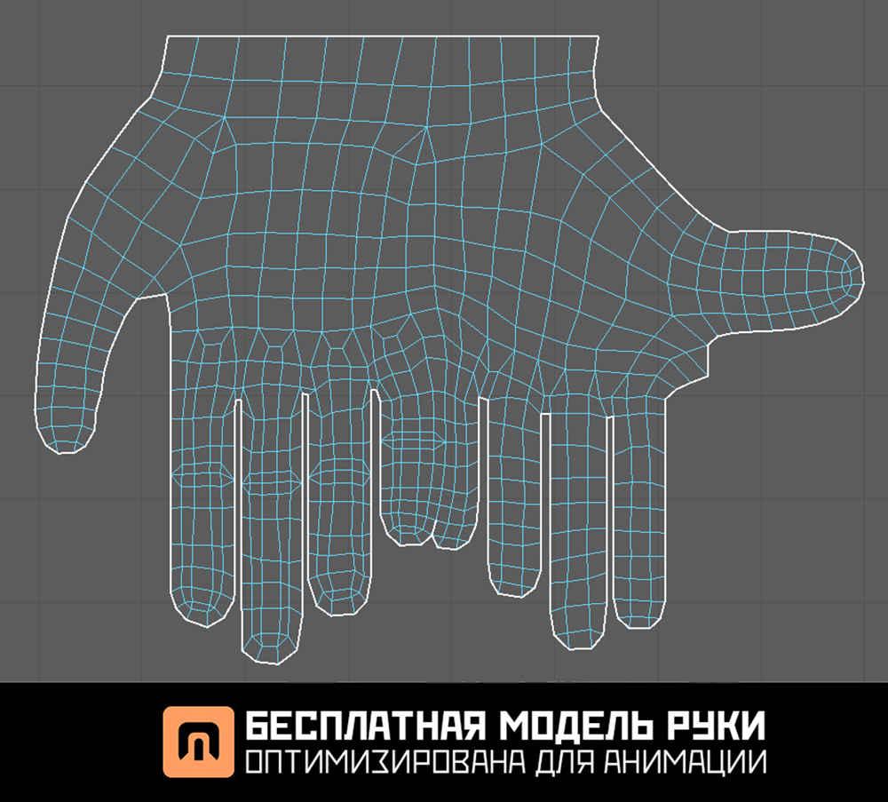 Бесплатный меш рук 3D blender 3ds max скачать