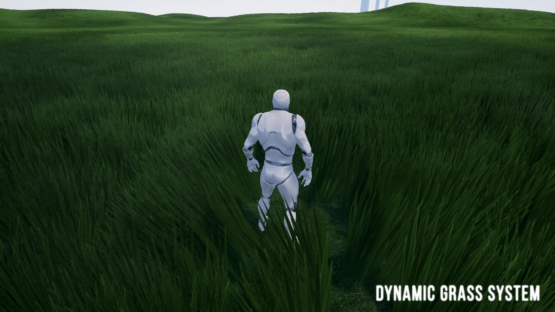 Система динамической травы в Unreal Engine 4