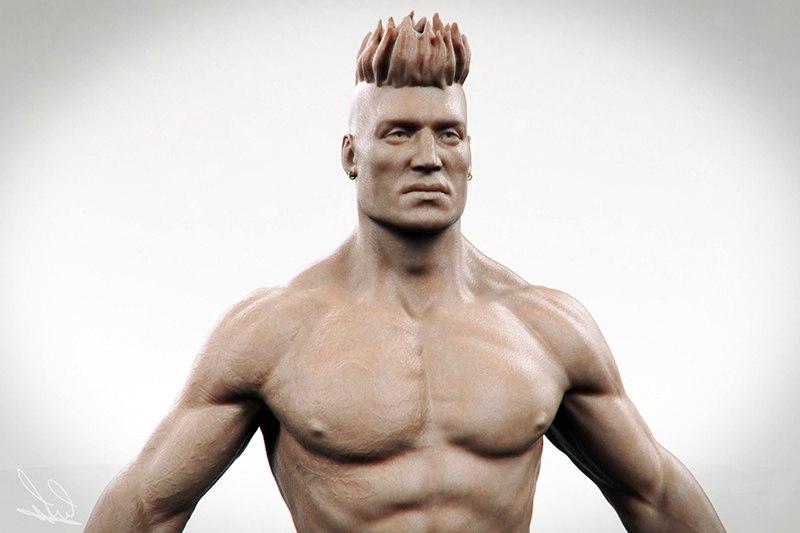 Бесплатная низкополигональная 3D модель человека