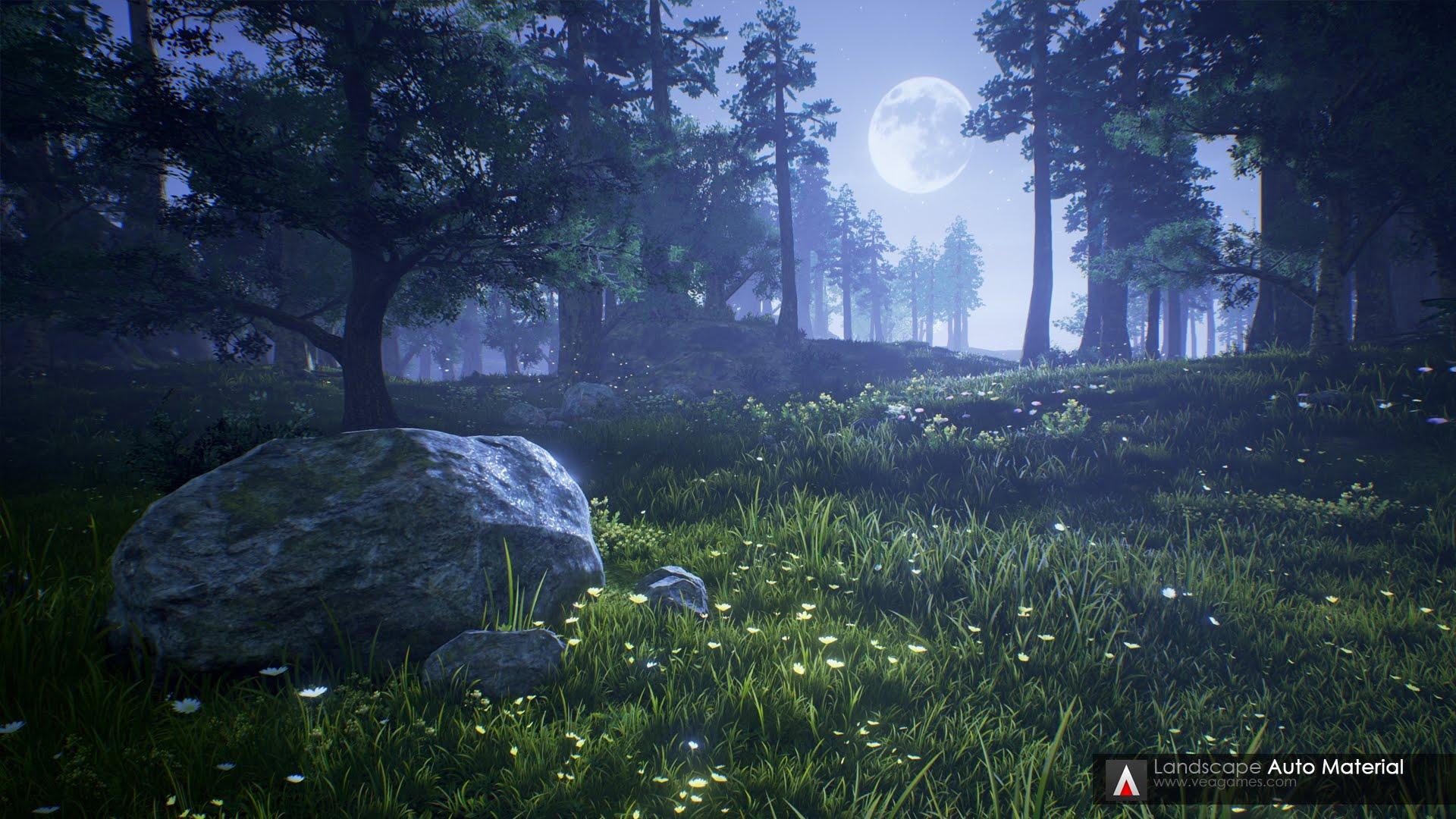 Landscape Auto Material - Unreal Engine 4
