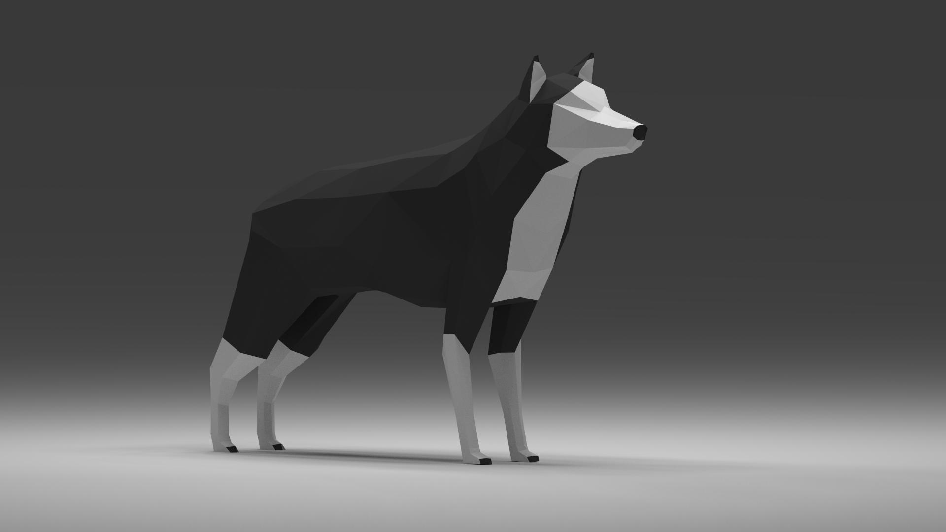 Уроки Blender3D - Создание Low-Poly волка